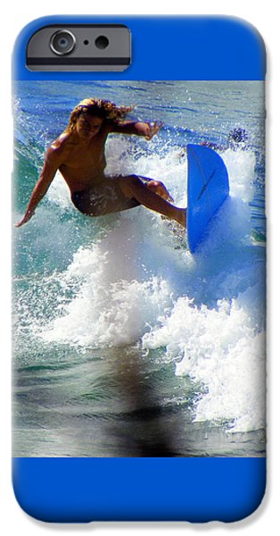 Board iPhone Cases - Wave Rider iPhone Case by Karen Wiles