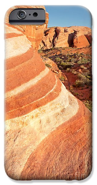 Stripes iPhone Cases - Wave rocks iPhone Case by Jane Rix