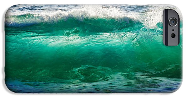 Baja iPhone Cases - Wave Splashing On The Beach, Todos iPhone Case by Panoramic Images