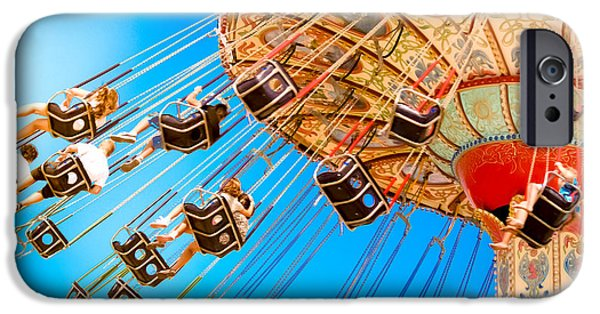 Casino Pier iPhone Cases - Wave Swinger  iPhone Case by Colleen Kammerer