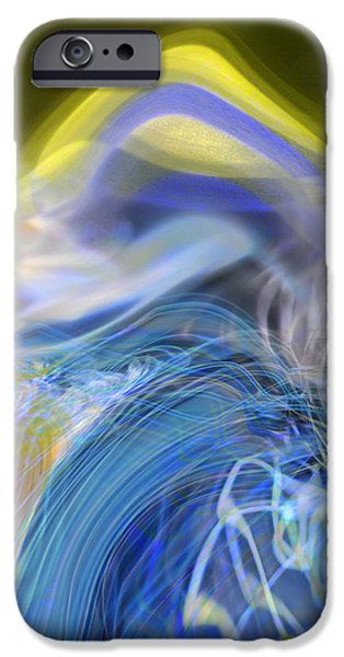 Abstract Expressionism iPhone Cases - Wave Theory iPhone Case by Richard Thomas