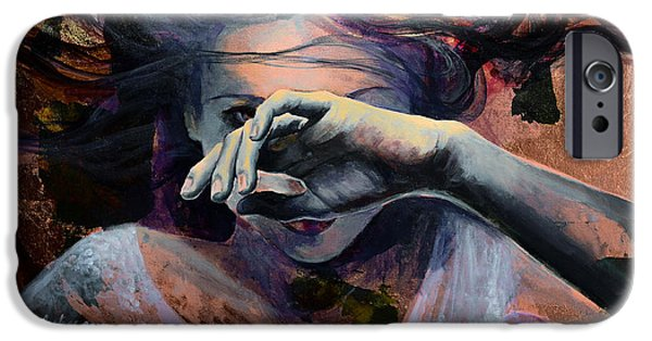Girl iPhone Cases - Wavering... iPhone Case by Dorina  Costras