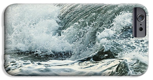 Ocean iPhone Cases - Waves in stormy ocean iPhone Case by Elena Elisseeva