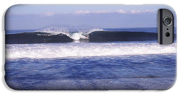 North Sea iPhone Cases - Waves In The Sea, North Shore, Oahu iPhone Case by Panoramic Images