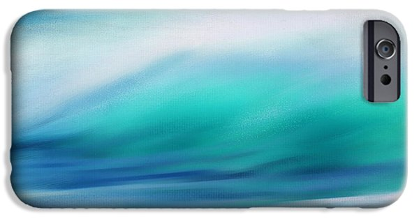 Abstract Seascape iPhone Cases - Waves iPhone Case by Lourry Legarde