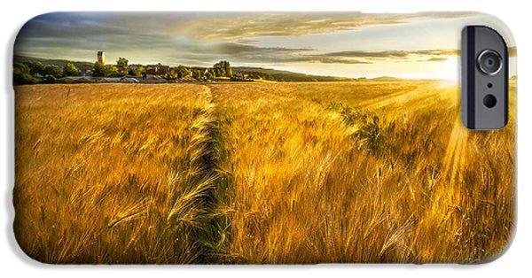 Recently Sold -  - Field. Cloud iPhone Cases - Waves of Grain iPhone Case by Debra and Dave Vanderlaan