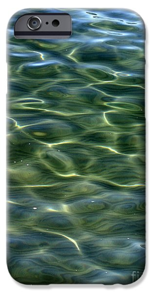 Wavy iPhone Cases - Waves on Lake Tahoe iPhone Case by Carol Groenen