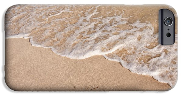 Nature Study iPhone Cases - Waves on the beach iPhone Case by Adam Romanowicz