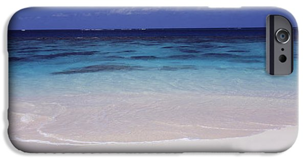 West Indies iPhone Cases - Waves On The Beach, Shoal Bay Beach iPhone Case by Panoramic Images