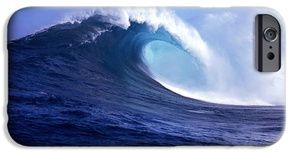 Power iPhone Cases - Waves Splashing In The Sea, Maui iPhone Case by Panoramic Images