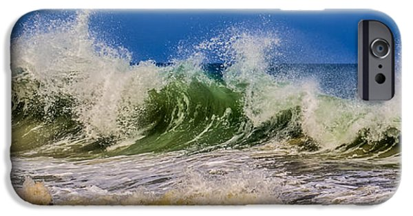 Summer iPhone Cases - Waves iPhone Case by Zina Stromberg