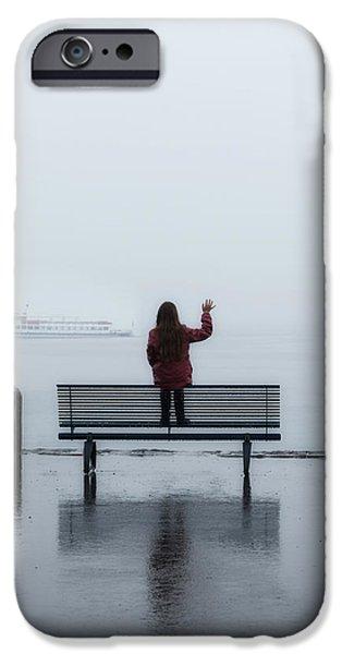 waving goodbye iPhone Case by Joana Kruse