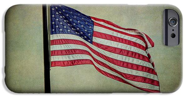 Old Glory iPhone Cases - Waving in the Wind iPhone Case by Emily Enz