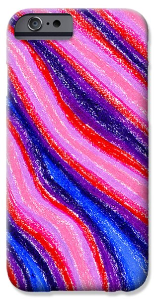 Organic Pastels iPhone Cases - Wavy Oil Pastel iPhone Case by Hakon Soreide