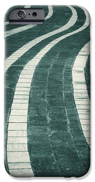 Pathway iPhone Cases - Wavy stone path abstract iPhone Case by Modern Art Prints