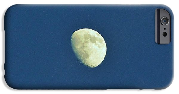 Moonscape iPhone Cases - Waxing Moon iPhone Case by D Hackett