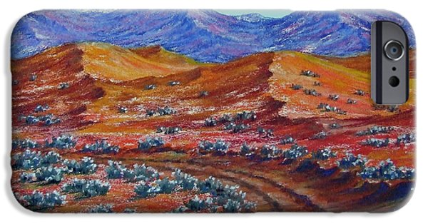 Tracks Pastels iPhone Cases - Way through the Wilderness iPhone Case by David Clode