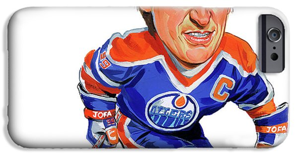 Art iPhone Cases - Wayne Gretzky iPhone Case by Art