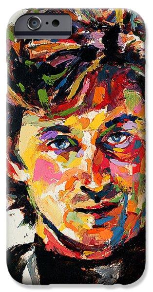 Wayne Gretzky iPhone Cases - Wayne Gretzky iPhone Case by Derek Russell