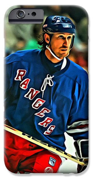 Wayne Gretzky iPhone Cases - Wayne Gretzky In Action iPhone Case by Florian Rodarte