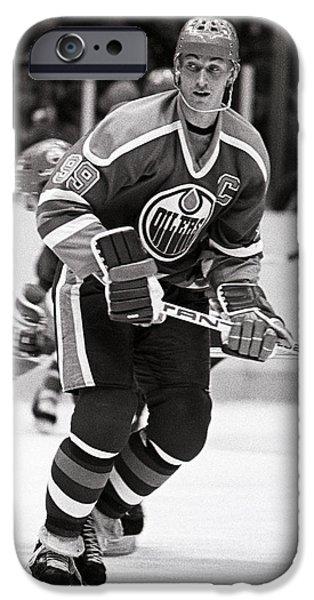 Wayne Gretzky iPhone Cases - Wayne Gretzky iPhone Case by Jerry Coli