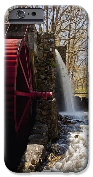 Sudbury Ma iPhone Cases - Wayside Grist Mill 2 iPhone Case by Dennis Coates