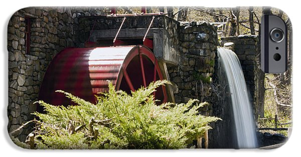 Sudbury Ma iPhone Cases - Wayside Grist Mill 3 iPhone Case by Dennis Coates
