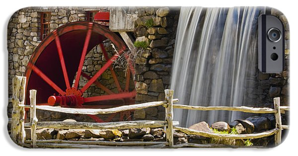 Sudbury Ma iPhone Cases - Wayside Grist Mill 4 iPhone Case by Dennis Coates