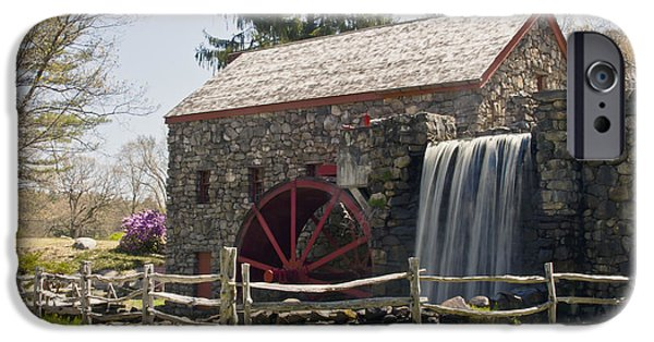 Sudbury Ma iPhone Cases - Wayside Grist Mill 5 iPhone Case by Dennis Coates