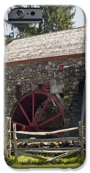 Wayside Grist Mill 5 iPhone Case by Dennis Coates
