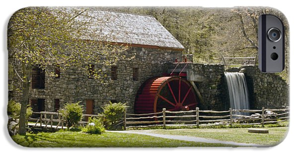 Sudbury Ma iPhone Cases - Wayside Grist Mill 6 iPhone Case by Dennis Coates