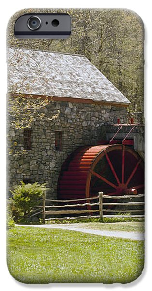 Wayside Grist Mill 6 iPhone Case by Dennis Coates