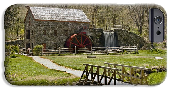 Sudbury Ma iPhone Cases - Wayside Grist Mill 8 iPhone Case by Dennis Coates