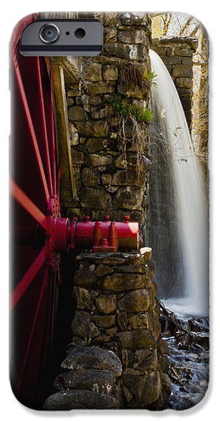 Sudbury Ma iPhone Cases - Wayside Grist Mill iPhone Case by Dennis Coates