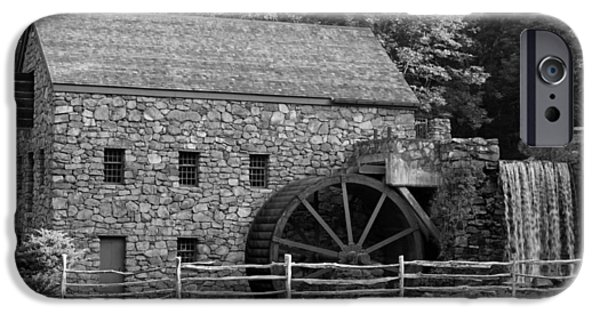 Grist Mill iPhone Cases - Wayside Grist Mill - Sudbury Massachusetts iPhone Case by Suzanne Gaff