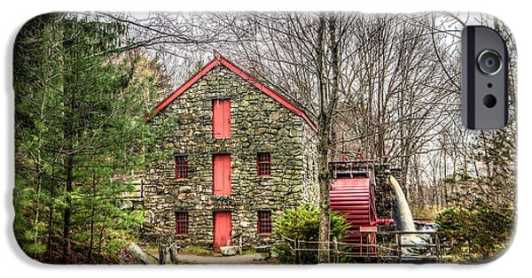Grist Mill iPhone Cases - Wayside Inn Grist Mill iPhone Case by Monica Benvenuti