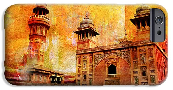 Pakistan iPhone Cases - Wazir Khan Mosque iPhone Case by Catf