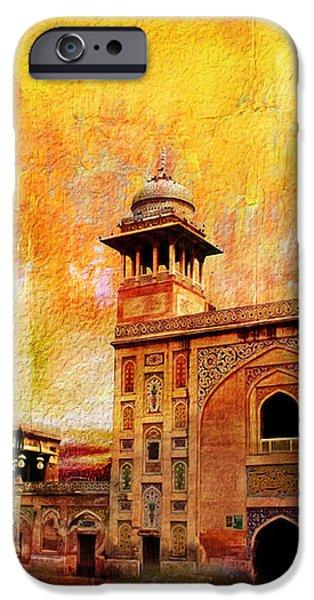 Wazir Khan Mosque iPhone Case by Catf