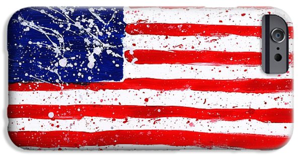4th July Paintings iPhone Cases - We Are All in This Together iPhone Case by Phil Strang