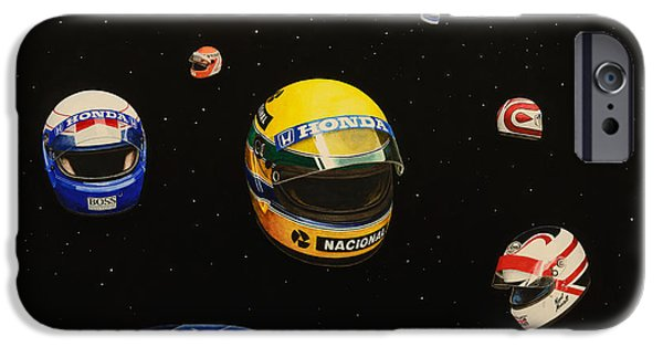 Michael Schumacher iPhone Cases - We are Flying High   iPhone Case by Oleg Konin