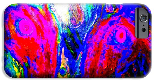 Biological Paintings iPhone Cases - We are going under  iPhone Case by Hilde Widerberg