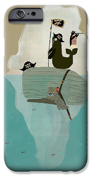 Pirate Ship iPhone Cases - We Are Pirates iPhone Case by Bri Buckley