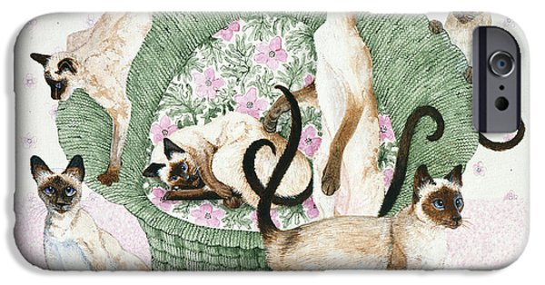 Recently Sold -  - Basket iPhone Cases - We Are Siamese If You Please iPhone Case by Pat Scott