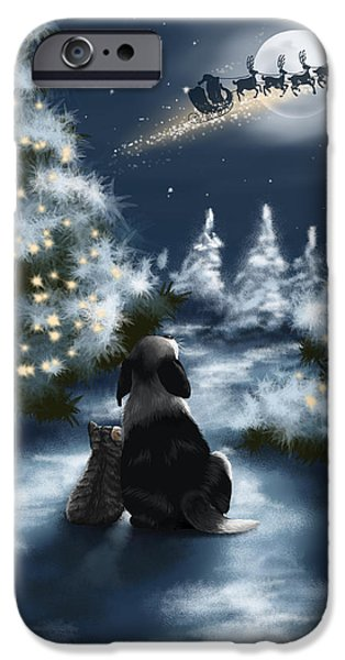 Snowy Night iPhone Cases - We are so good iPhone Case by Veronica Minozzi