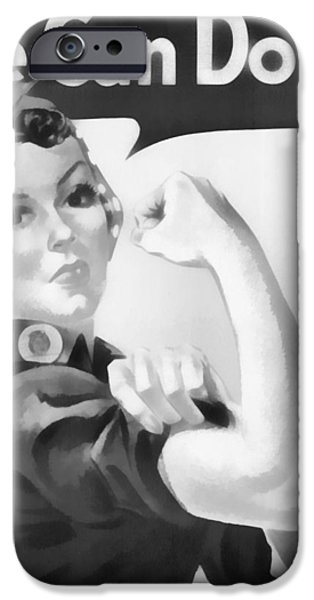 Revolution Mixed Media iPhone Cases - We Can Do It iPhone Case by Dan Sproul