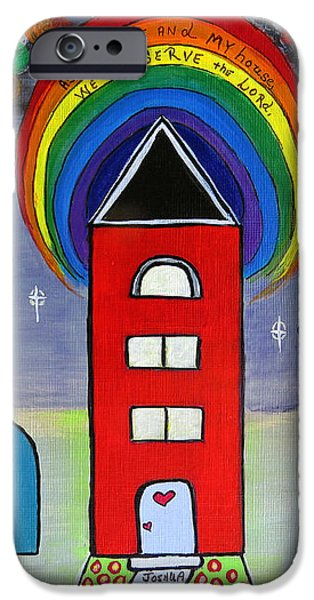 We Choose to Serve - Original Whimsical Folk Art Painting iPhone Case by Ella Kaye Dickey