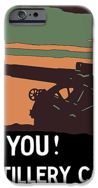 We Need You Coast Artillery Corps USA iPhone Case by War Is Hell Store