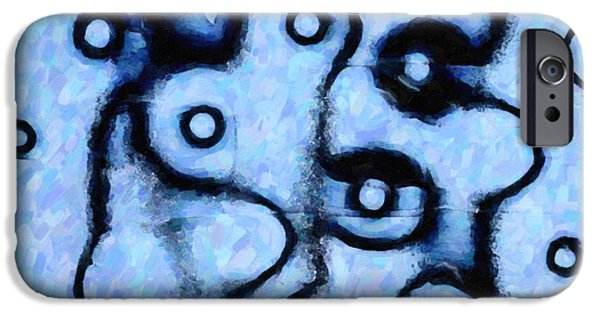 Abstractions iPhone Cases - We Never See Eye To Eye iPhone Case by Kenny Francis