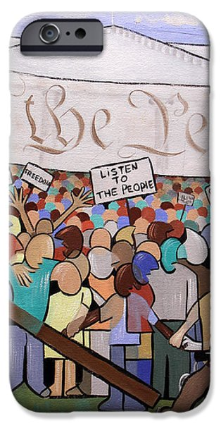 We The People iPhone Case by Anthony Falbo