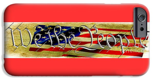 Constitution iPhone Cases - We The People iPhone Case by Beverly Guilliams